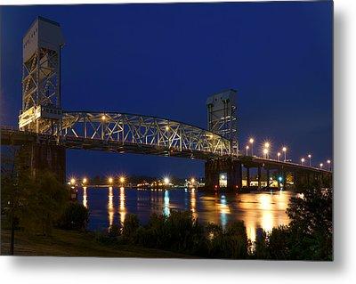 Cape Fear Memorial Bridge 2 - North Carolina Metal Print by Mike McGlothlen