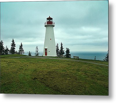 Cape George Lighthouse Metal Print by Janet Ashworth
