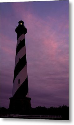 Cape Hatteras Lighthouse At Dusk Metal Print by Jim Baker