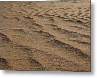 Cape Hatteras Ripples In The Sand-north Carolina Metal Print by Mountains to the Sea Photo