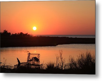 Cape Hatteras Sunset-north Carolina Metal Print by Mountains to the Sea Photo