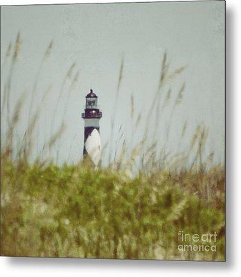 Cape Lookout Lighthouse - Vintage Metal Print by Kerri Farley