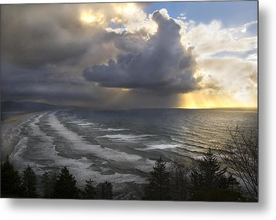 Metal Print featuring the photograph Sunset At Cape Lookout Oregon Coast by Yulia Kazansky