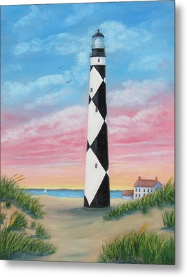 Cape Lookout Sunset Metal Print by Fran Brooks