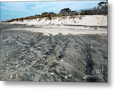 Cape May Beach Colors Metal Print by John Rizzuto