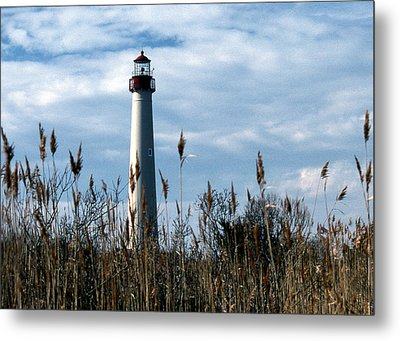 Cape May Light Metal Print by Skip Willits