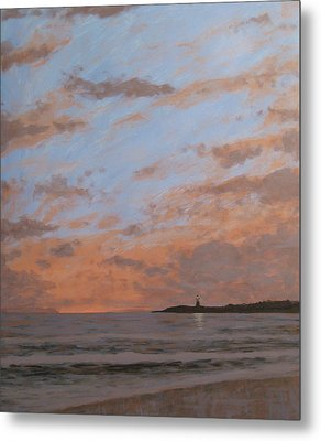 Cape May Lighthouse At Dusk Metal Print by Matthew Hannum