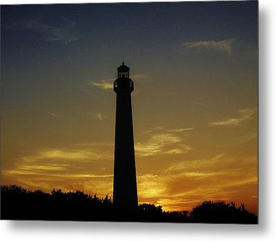 Cape May Lighthouse At Sunset Metal Print by Ed Sweeney