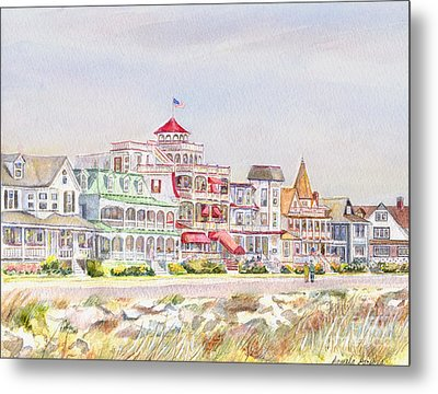 Cape May Promenade Cape May New Jersey Metal Print by Pamela Parsons