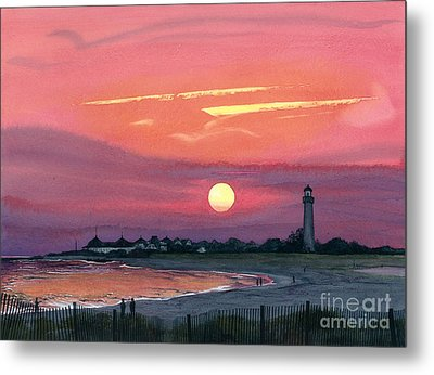 Cape May Sunset Metal Print by Barbara Jewell