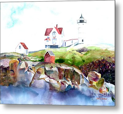 Cape Neddick Lighthouse Me Metal Print