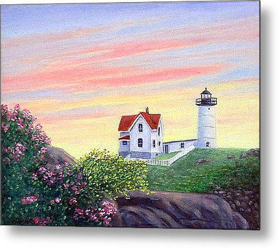 Cape Neddick Sunrise Metal Print by Fran Brooks