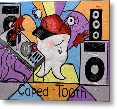 Caped Tooth Metal Print by Anthony Falbo