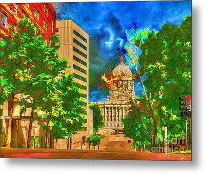 Capital - Jefferson City Missouri - Painting Metal Print by Liane Wright