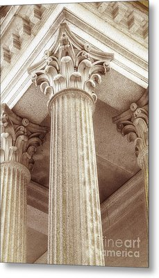 Capital Of The Column Metal Print by Charline Xia