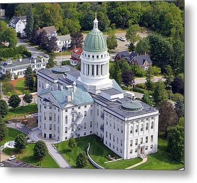 Capitol Building, Augusta Metal Print by Dave Cleaveland