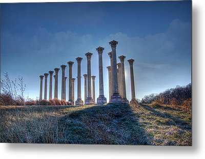 Metal Print featuring the photograph Capitol Columns by Michael Donahue