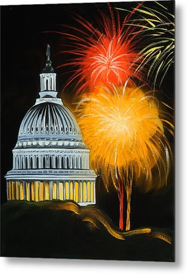 Capitol Fourth Of July Metal Print