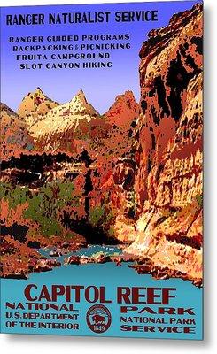 Capitol Reef National Park Vintage Poster Metal Print by Eric Glaser