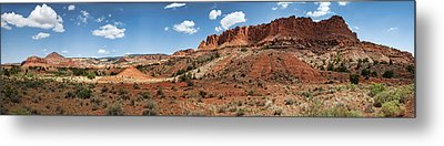 Metal Print featuring the photograph Capitol Reef Panorama No. 1 by Tammy Wetzel