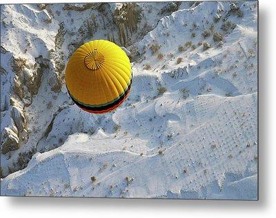 Cappadocia & Balloon Metal Print
