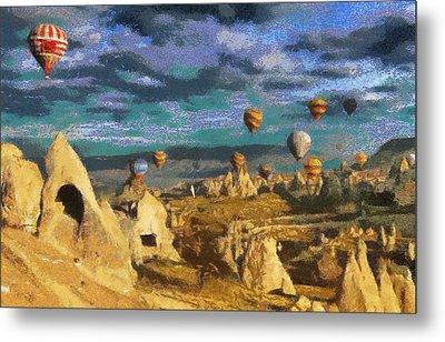 Cappadocia Ballons Fiesta Metal Print