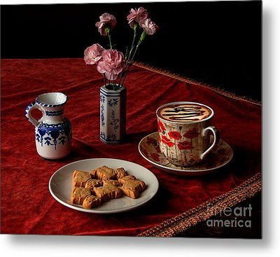 Cappuccino Coffee Metal Print by Donald Davis