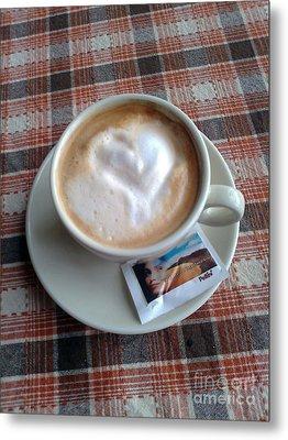 Cappuccino Love Metal Print by Ausra Huntington nee Paulauskaite