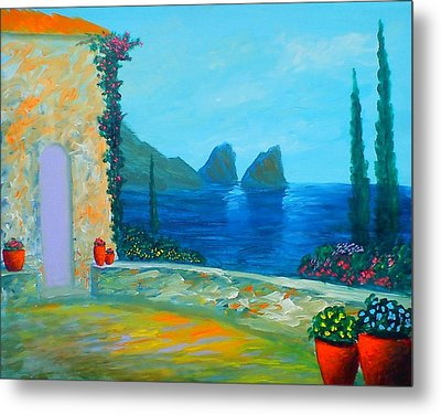 Capri Colors Metal Print by Larry Cirigliano