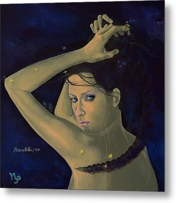 Capricorn From Zodiac Series Metal Print by Dorina  Costras