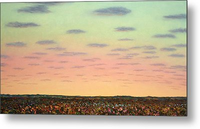 Caprock Sunrise Metal Print by James W Johnson