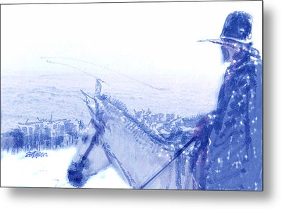 Capt. Call In A Snowstorm Metal Print by Seth Weaver