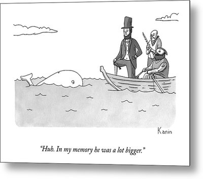 Captain Ahab Finds A Small Whale Metal Print
