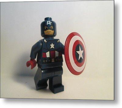 Captain America Metal Print by Harrison Matlock