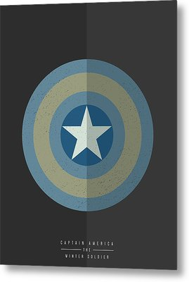Captain America Winter Soldier Metal Print by Mike Taylor