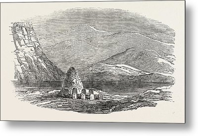 Captain Austins Arctic Expedition Cairn Left By The North Metal Print