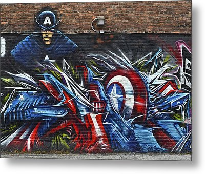 Captain Graffiti Metal Print by Frozen in Time Fine Art Photography