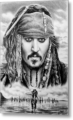 Captain Jack Sparrow 2 Metal Print by Andrew Read