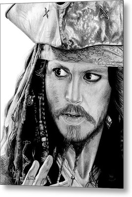 Captain Jack Sparrow Metal Print by Kayleigh Semeniuk