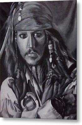 Captain Jack Sparrow Metal Print by Lori Keilwitz