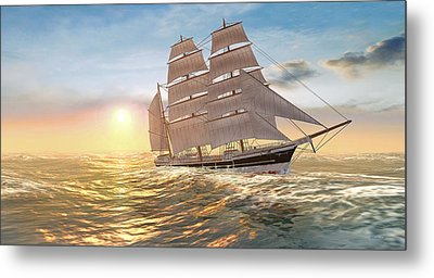 Captain Larry Paine Clippership Metal Print