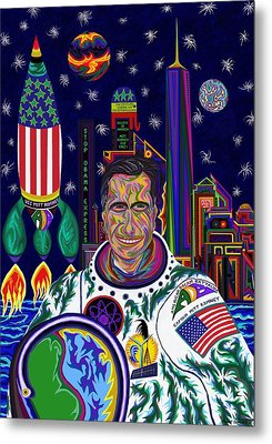 Captain Mitt Romney - American Dream Warrior Metal Print