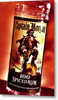 Captain Morgan Red Toned Metal Print