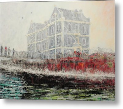 Captains Manor In The Fog Metal Print by Michael Durst