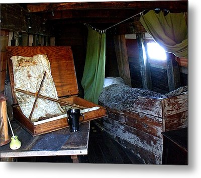 Captain's Quarters Aboard The Mayflower Metal Print