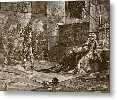 Capture Of Bruces Wife And Daughter Metal Print