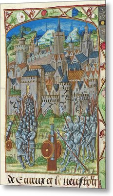 Capture Of Evreux Metal Print