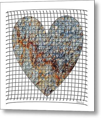Metal Print featuring the digital art Captured Love- No1 by Darla Wood
