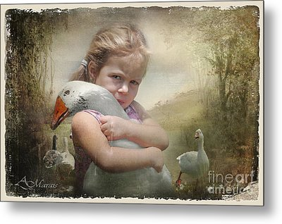 Captured Memories-not The Perfect World Metal Print by Adelita Rog