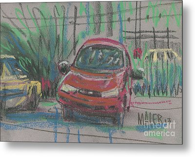 Metal Print featuring the painting Car Crazy by Donald Maier
